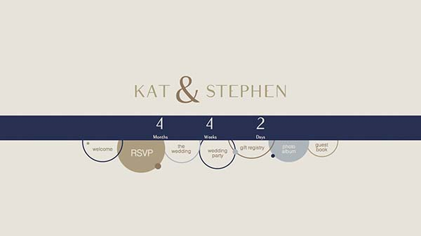 Wedding Website preview
